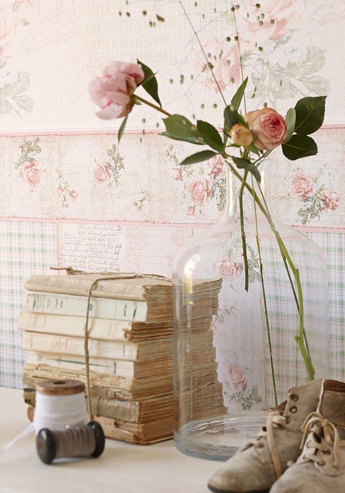 Bord Re Romantische Mustertapete Im Landhausstil