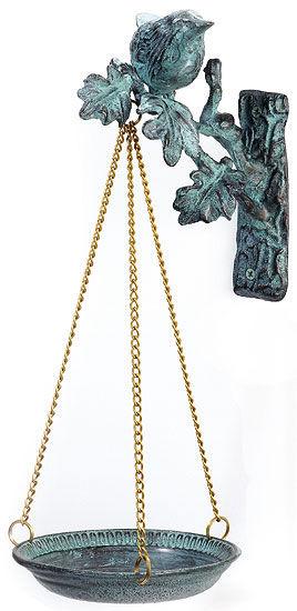 Hängende Futterschale mit Bronzevogel