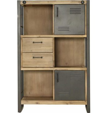 kleiderschrank industrial print optik graphit woody 127 00102 wohnwelten. Black Bedroom Furniture Sets. Home Design Ideas
