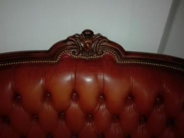 Chesterfield Chippendale Echtleder Sofa Cognac Wohnwelten Shopde