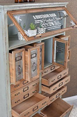 vintage kommode loft m bel apothekerschrank industrial schrank hochkommode antik wohnwelten. Black Bedroom Furniture Sets. Home Design Ideas