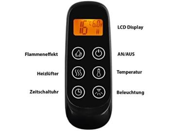 Richen Elektrokamin MT119C-EF119B Elektrischer Kamin (2000W, LED-Beleuchtung, 3-D Flammeneffekt, Fernbedienung) Weiß -
