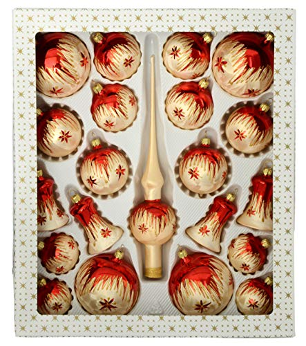 Jingle Bells Lauscha 21 teiliges Set mit Spitze Tradition - 1