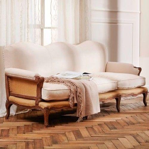 Sofa MOU, massiv Mangoholz aufwendige Schnitzerei Barock Rokoko Lounge Antik