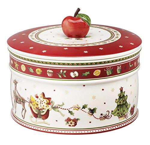 Villeroy & Boch Winter Bakery Delight Gebäckdose groß / Hochwertige Plätzchendose in winterlichem Design / 1 x Keksdose 13 x 17 cm - 1