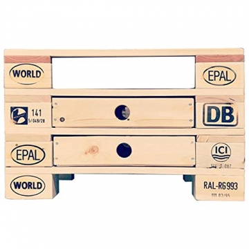 Palettenmöbel Couchtisch, Beistelltisch Orlando aus zertifiziertem Europalettenholz, jedes Teil ist einzigartig und Wird in Deutschland in Handarbeit gefertigt - 3