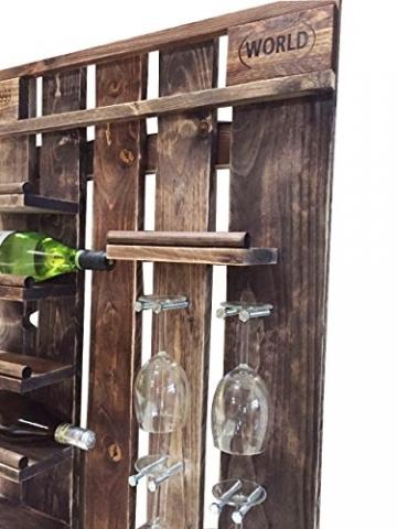 Palettenmöbel Flaschen-/Wein-Regal Santa Barbara aus ippc zertifizierten Palettenholz, jedes Teil ist einzigartig und Wird in Deutschland in Handarbeit Gefertigt - 4