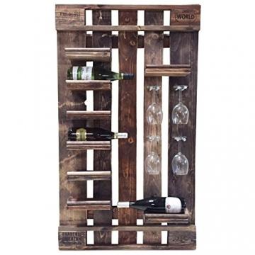 Palettenmöbel Flaschen-/Wein-Regal Santa Barbara aus ippc zertifizierten Palettenholz, jedes Teil ist einzigartig und Wird in Deutschland in Handarbeit Gefertigt - 1