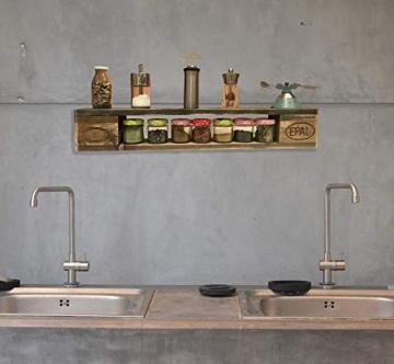 Palettenmöbel: Wandregal, Küchenregal, Gewürzregal KEOKEA aus zertifiziertem Europalettenholz, jedes Teil ist einzigartig und Wird in Deutschland in Handarbeit gefertigt - 2
