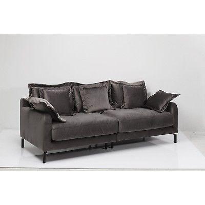 Sofa Lullaby Einzelsofa Couch Samt Polstersofa gemütlich weich Taupe KARE Desig