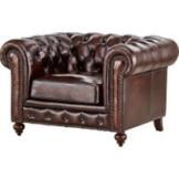 uno Sessel braun - Leder Chesterfield ¦ braun ¦ Maße (cm): B: 124 H: 80 T: 100 Polstermöbel > Sessel > Ledersessel - Höffner