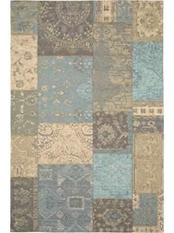 Benuta Flachgewebe Teppich Frencie Patchwork Braun 120x180 cm/Pflegeleichter Teppich für Flur und Andere Wohnräume - 2