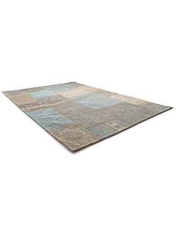 Benuta Flachgewebe Teppich Frencie Patchwork Braun 120x180 cm/Pflegeleichter Teppich für Flur und Andere Wohnräume - 3
