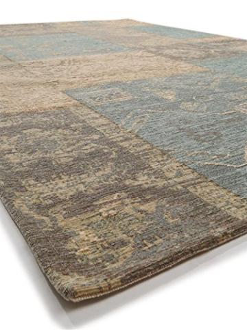 Benuta Flachgewebe Teppich Frencie Patchwork Braun 120x180 cm/Pflegeleichter Teppich für Flur und Andere Wohnräume - 4