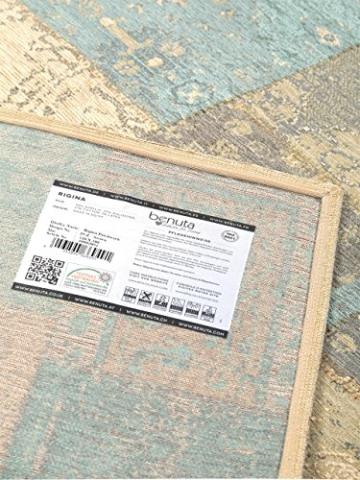 Benuta Flachgewebe Teppich Frencie Patchwork Braun 120x180 cm/Pflegeleichter Teppich für Flur und Andere Wohnräume - 5