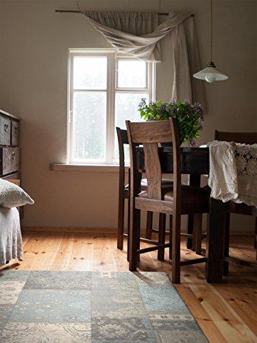 Benuta Flachgewebe Teppich Frencie Patchwork Braun 120x180 cm/Pflegeleichter Teppich für Flur und Andere Wohnräume - 1