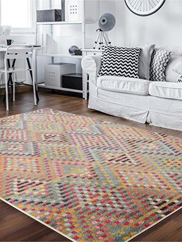 Benuta Teppich Casa, Kunstfaser, Multicolor, 140 x 200.0 x 2 cm - 1