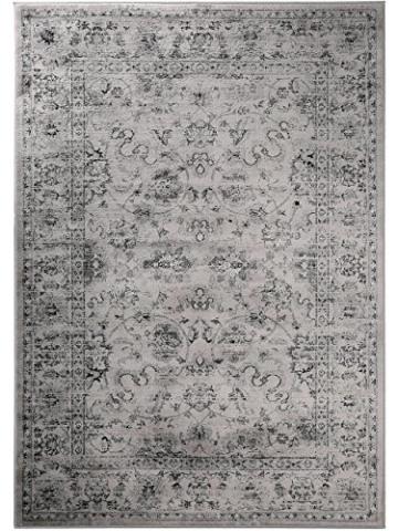 benuta Vintage Teppich im Used-Look Velvet Grau 140x200 cm | Moderner Teppich für Schlafzimmer und Wohnzimmer - 2