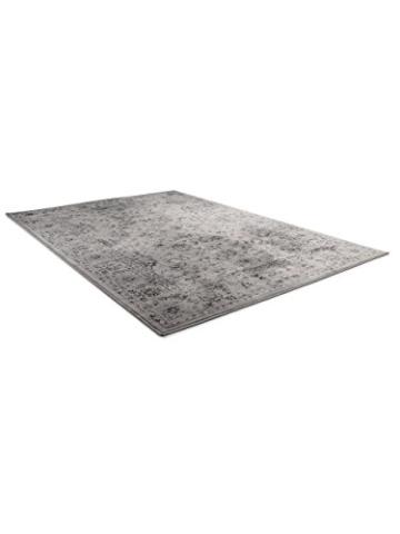 benuta Vintage Teppich im Used-Look Velvet Grau 140x200 cm | Moderner Teppich für Schlafzimmer und Wohnzimmer - 3