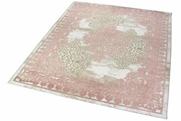 Merinos Wohnzimmerteppich mit Ornamenten Teppich Vintage in Rosa Beige Creme Größe 160x230 cm - 2