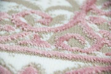 Merinos Wohnzimmerteppich mit Ornamenten Teppich Vintage in Rosa Beige Creme Größe 160x230 cm - 4