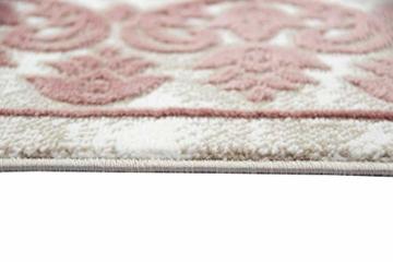 Merinos Wohnzimmerteppich mit Ornamenten Teppich Vintage in Rosa Beige Creme Größe 160x230 cm - 5