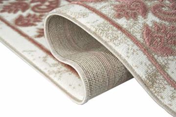 Merinos Wohnzimmerteppich mit Ornamenten Teppich Vintage in Rosa Beige Creme Größe 160x230 cm - 6