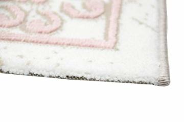 Merinos Wohnzimmerteppich mit Ornamenten Teppich Vintage in Rosa Beige Creme Größe 160x230 cm - 7