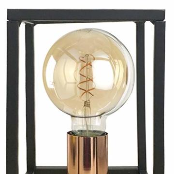 ONLI Tischlampe Stil Urban Floki aus Metall schwarz und Lampenfassung Color Kupfer - 3