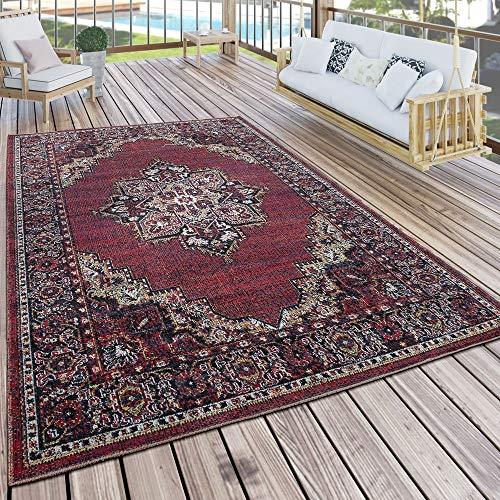 Paco Home In- & Outdoor Teppich Modern Vintage Look Terrassen Teppich Wetterfest Bunt, Grösse:120x170 cm - 1