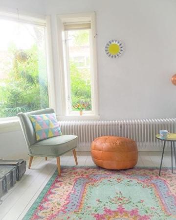 Rozenkelim Vintage Teppich | Shabby Chic Look Teppichläufer für Wohnzimmer, Schlafzimmer und Flur | 70% Polypropylen, 30% Baumwolle (Pastell, 225cm x 155cm, 8 mm hoch) - 6
