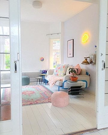 Rozenkelim Vintage Teppich | Shabby Chic Look Teppichläufer für Wohnzimmer, Schlafzimmer und Flur | 70% Polypropylen, 30% Baumwolle (Pastell, 225cm x 155cm, 8 mm hoch) - 7