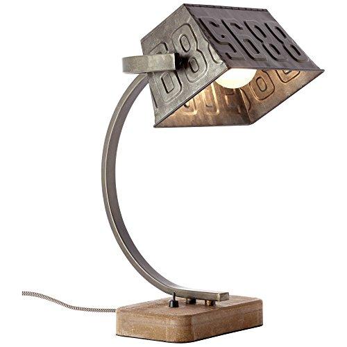 Tischleuchte, 1x E27 max. 40W, Metall/Holz, schwarz stahl - 1