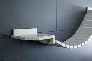 Jennys Tiershop Katzen Wandpark, Handgefertigte Tiermöbel/Luxusmöbel, Katzenmöbel in Vielen Ausführungen, Kratzbaum/Katzenbaum für die Wand. Hier: Hängebrücke 110 x 20 cm weiß (O6) - 3