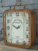 Tischuhr Kaminuhr Standuhr Vintage Retro Metall 36 x 25,5 cm Rost Kupfer