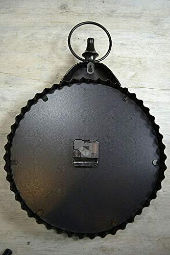 Livitat® Wanduhr Hängeuhr Taschenuhr Vintage Retro Metall 48 x 34 cm Retro Schwarz LV5088 -