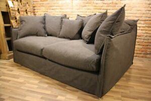 XXL Sofa THOR anthrazit Entenfeder extra tief 140cm Hussensofa Bigsofa Lounge