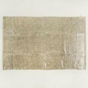Teppich ROY, silber 180x120cm Baumwolle Vintage Designer Wohnzimmer modern