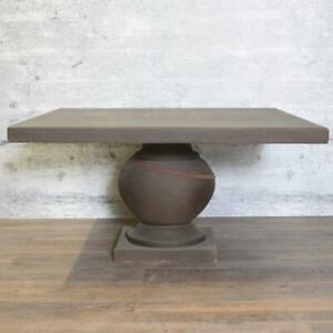 Steintisch GOLI eckig grau Gartentisch eckig 140x140 wetterfest outdoor Antik