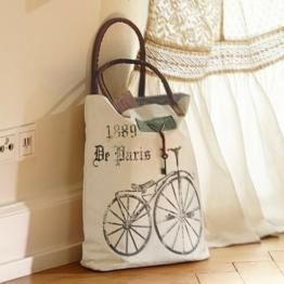 LOBERON Tasche Bicyclette, weiß (10 x 40 x 42cm)