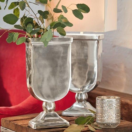 LOBERON Vase San José, silber (10 x 19 x 37cm)
