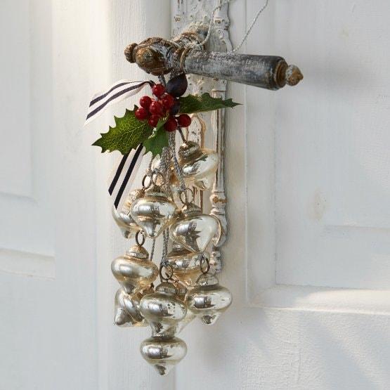 LOBERON Weihnachtsschmuck Sassey, antiksilber