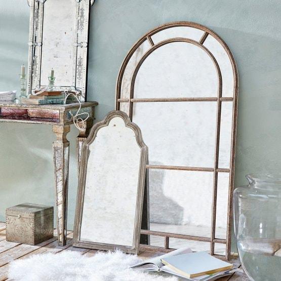 LOBERON Spiegel Morbihan, antikbraun/klar (2.6 x 80 x 140cm)