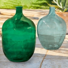LOBERON Vase 2er Set Cassian, grün/blau