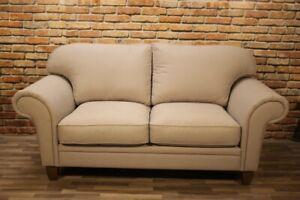 XXL Sofa VEN beige, 2 Sitzer 200cm breit Leinen Bigsofa zweier Couch Max Winzer