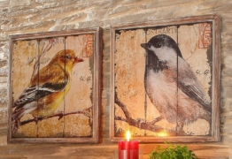 Home affaire Bild »Vogel«, (Set), Tiermotiv (Set, 2 St)