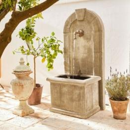 LOBERON Brunnen Ginette, grau (55 x 70 x 151cm)