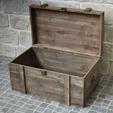 Brocante Landhaus Aufbewahrungsbox, 80 cm x 49 cm x 48 cm -
