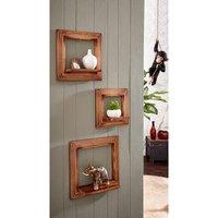 Home affaire Bilderrahmen »Wally«, 3er-Set, aus lackiertem MDF Holz, mit einer kleinen Stellfläche