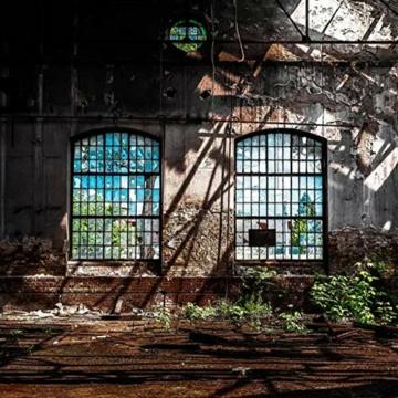 3D Großes Wandbild Vlies Wanddekoration Retro Industriefenster Fenster Fototapete-400cm * 280cm -